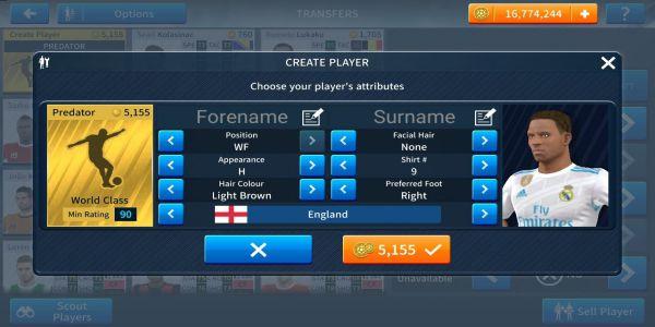 Dream league soccer sport mobile game