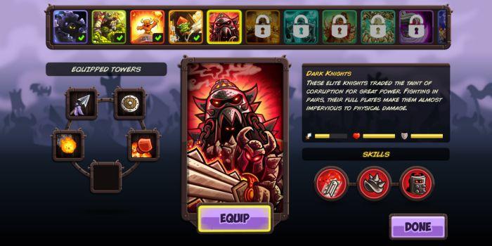 Kingdom Rush Vengeance items