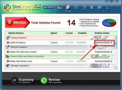 SlimDrivers update