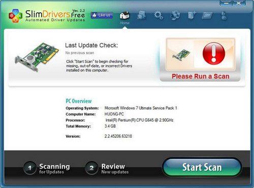 SlimDrives scan