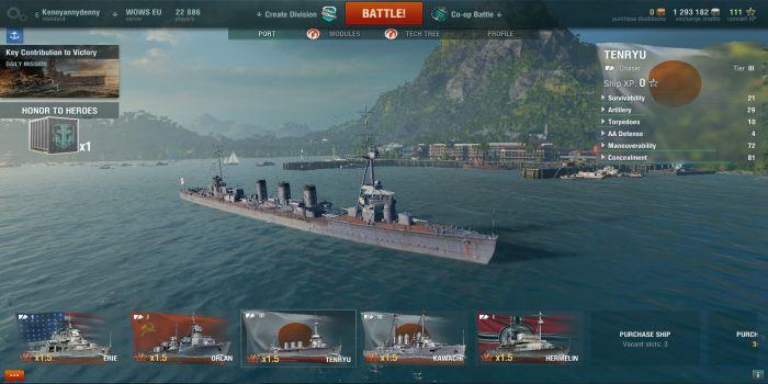 World of Warships Blitz v2 3 1 MOD APK + OBB download fro