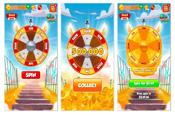 Coins Master mod apk spin