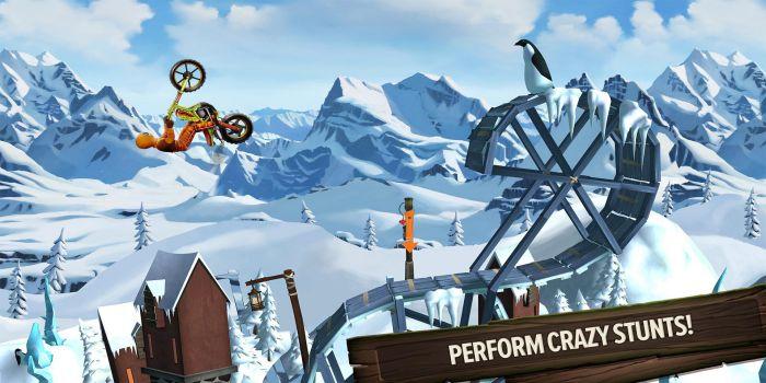 Trials Frontier mod apk gameplay