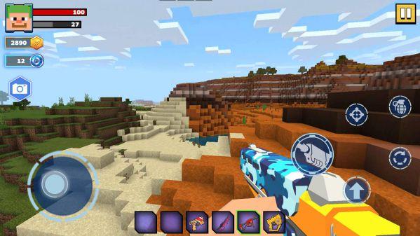Fire Craft 3D Pixel World MOD APK tính năng